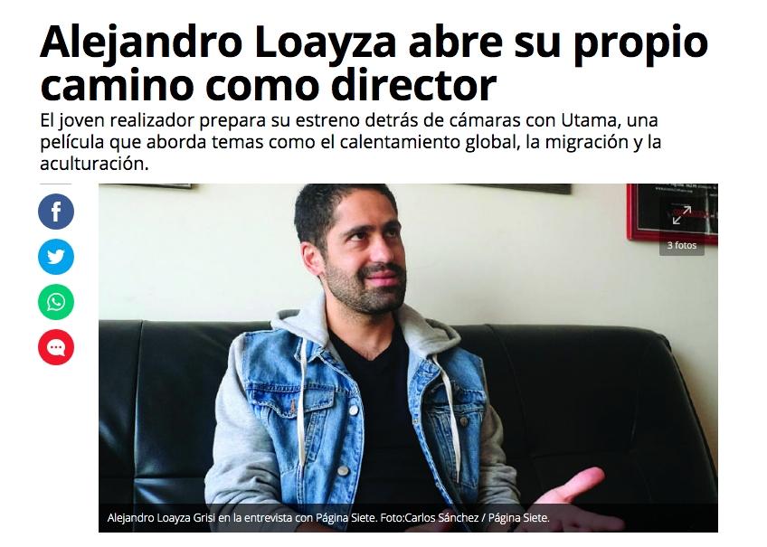 Alejandro Loayza abre su propio camino como director