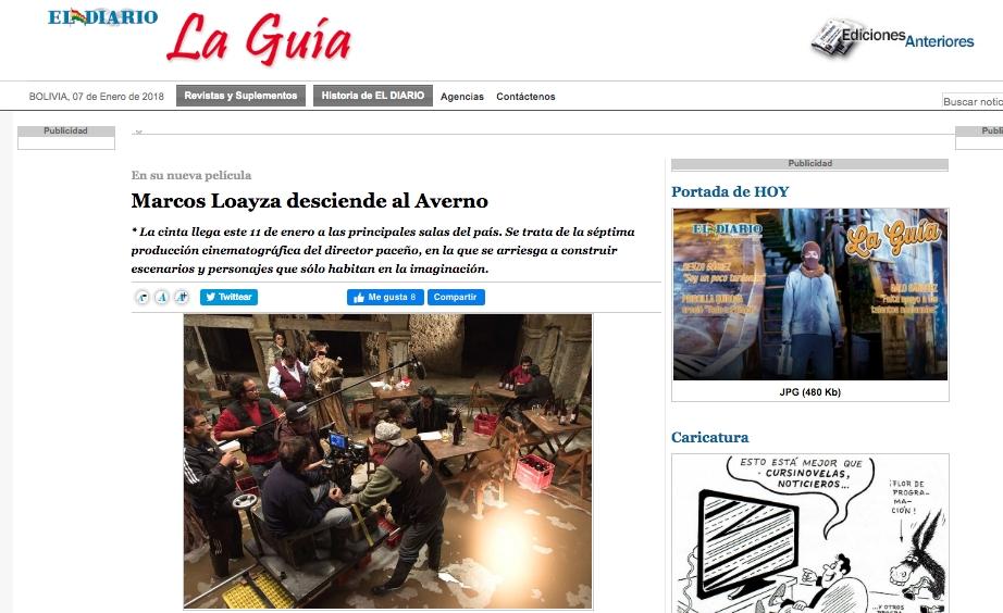 Marcos Loayza desciende al Averno