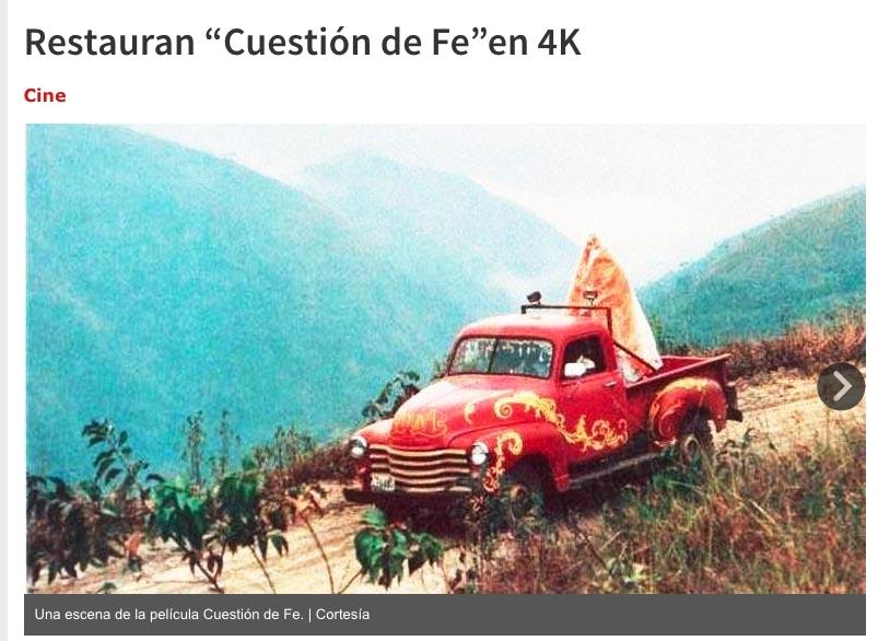 """Restauran """"Cuestión de Fe"""" en 4K"""